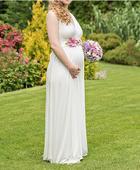 Tehotenské svadobné šaty značky Tiffany Rose, 38