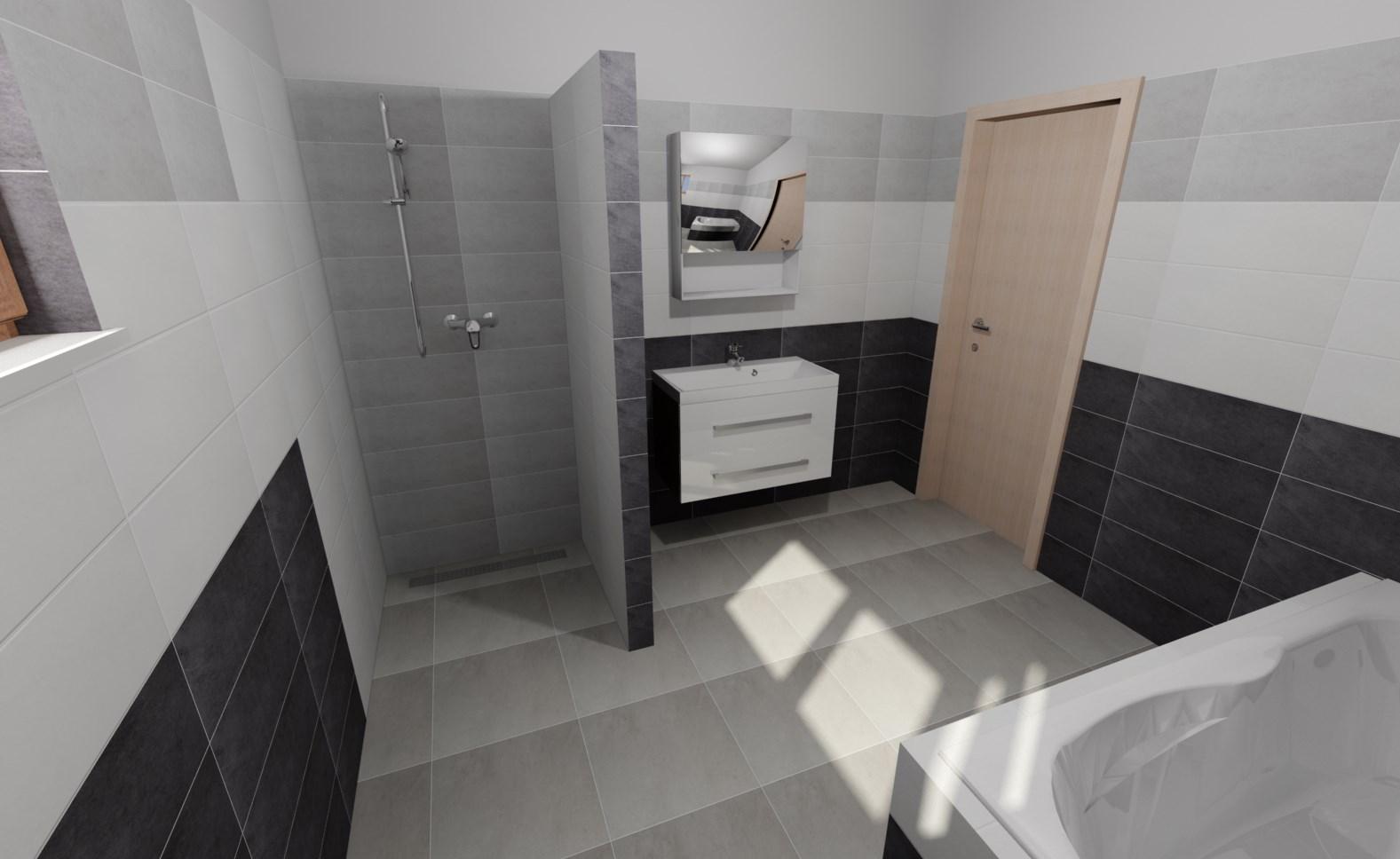 Naše DOMA 🏠 - návrh obkladu v koupelně
