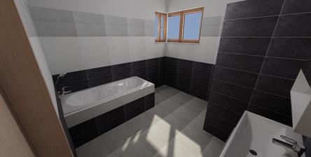 návrh obkladu v koupelně