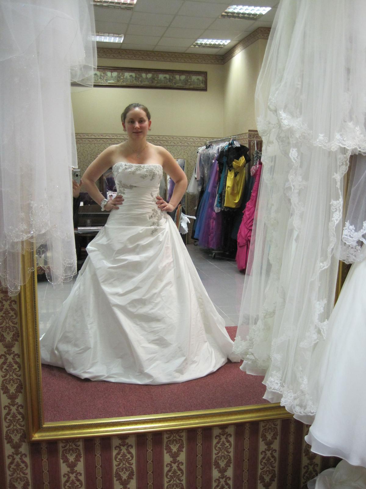 Diamantovo biele svadobné šaty Andover  - Obrázok č. 2