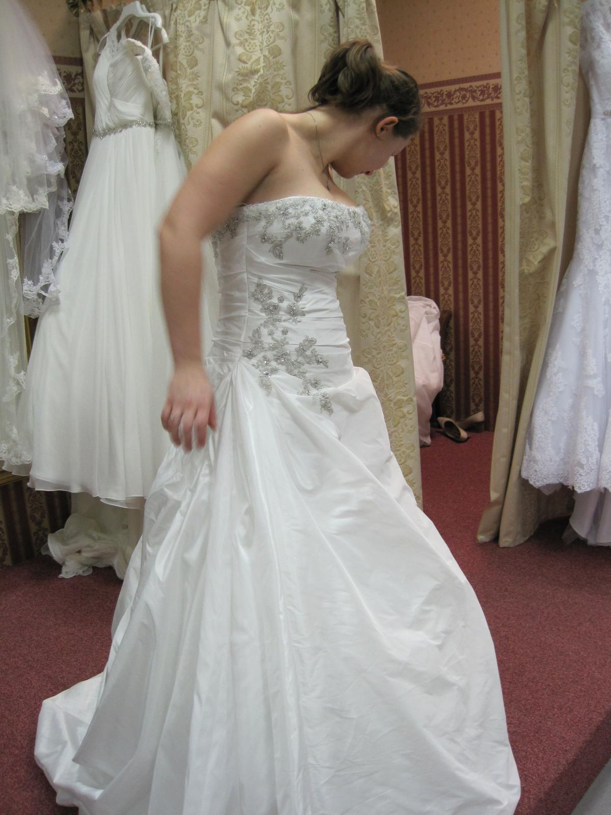 Diamantovo biele svadobné šaty Andover  - Obrázok č. 3