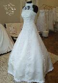22 - VIVIAN - šaty s priesvitnou čipkou na dekolte, 38