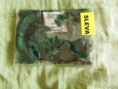 Ozdobné peří 3-7cm, zelené,