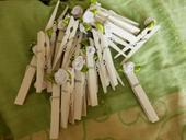 Kolíčky s růžičkou, 7,2 cm,