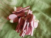 Růžové kolíčky s perličkou, cca 5 cm,