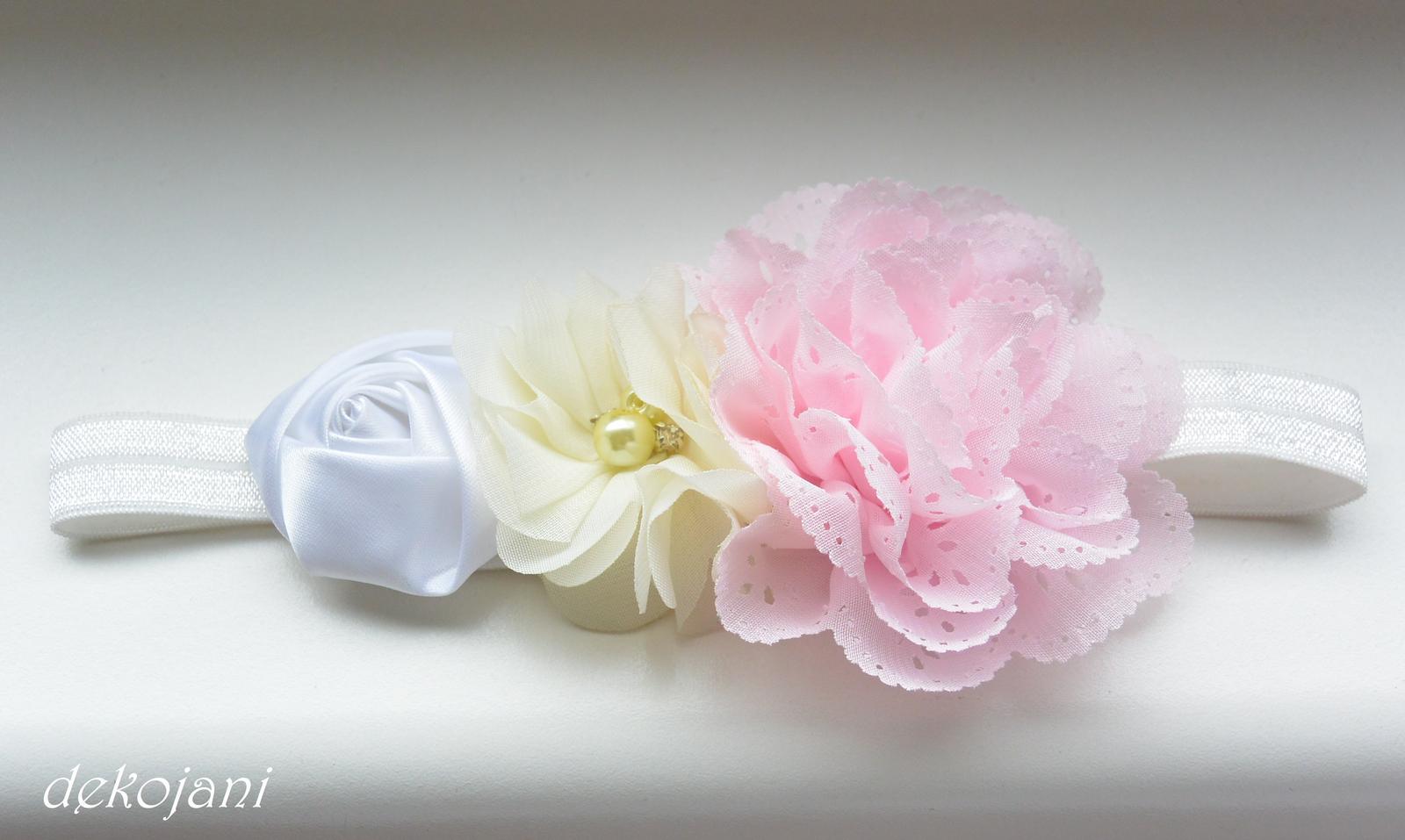 Čelenky, květiny do vlasů, náramky, obojek pro pejska... - Obrázek č. 36