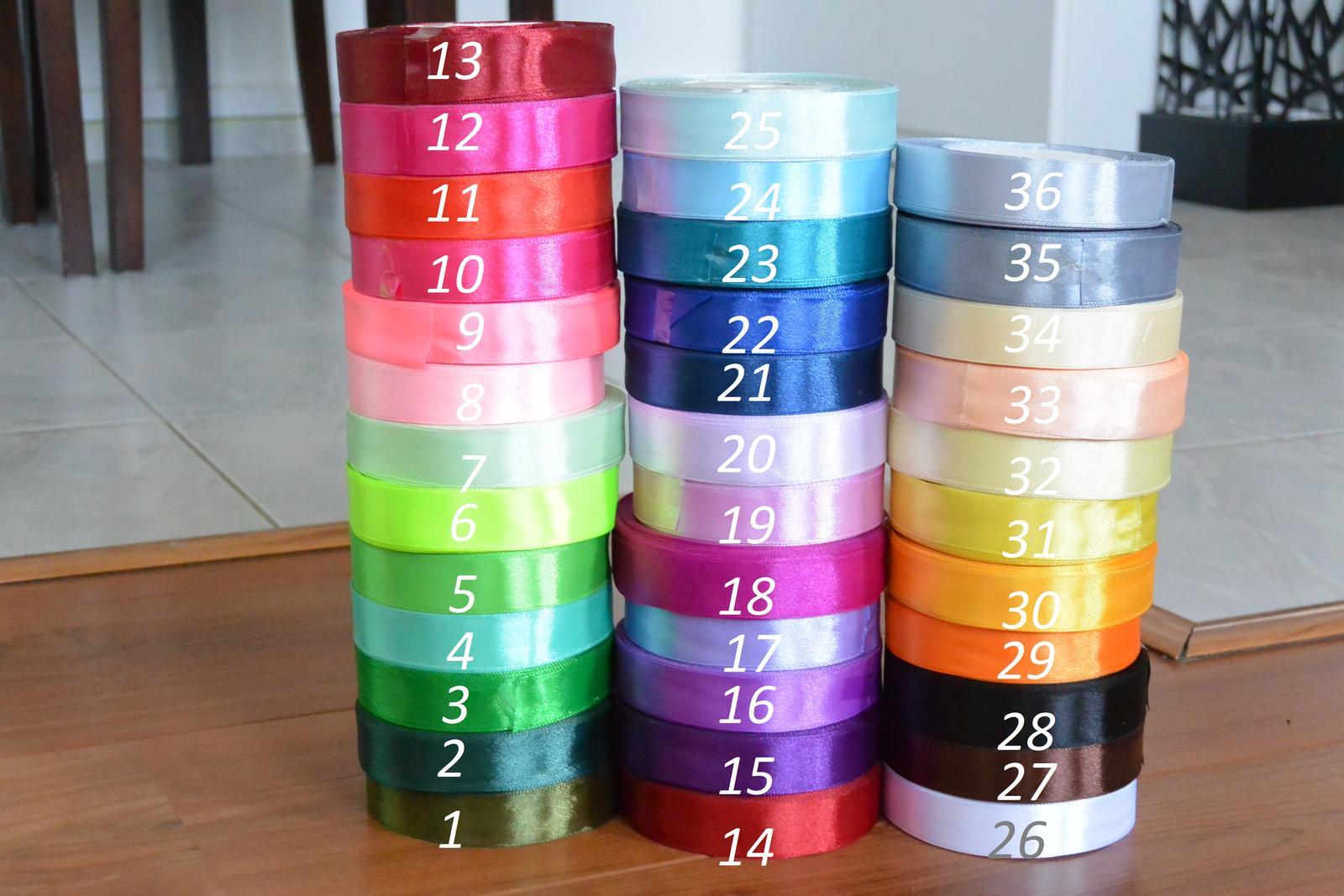 Podvazky- ušiji ve všech barvách! - Stuhy na mašle (vývazky, podvazky, polštářky) .....barva na přání.