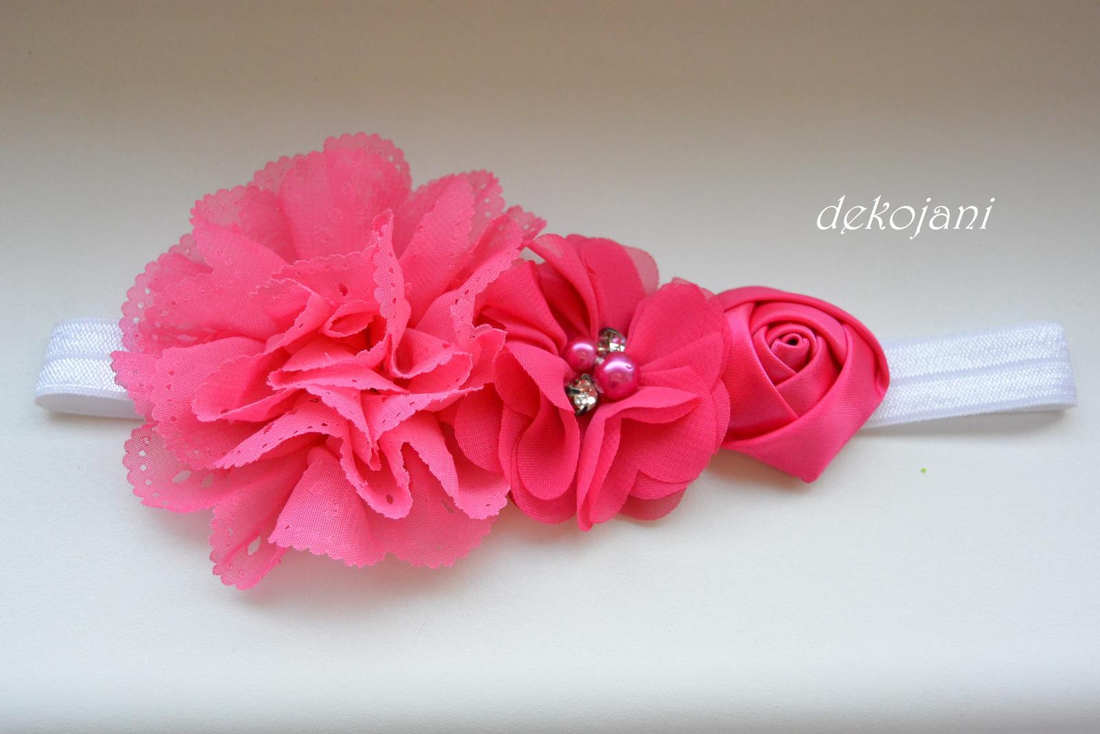 Čelenky, květiny do vlasů, náramky, obojek pro pejska... - Obrázek č. 54