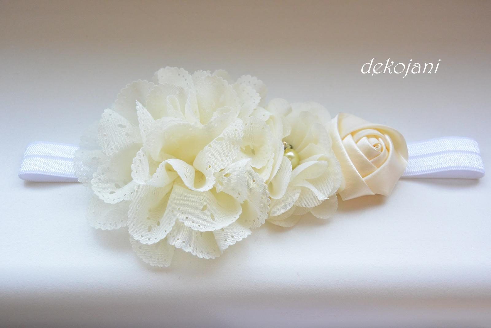 Čelenky, květiny do vlasů, náramky, obojek pro pejska... - Obrázek č. 39