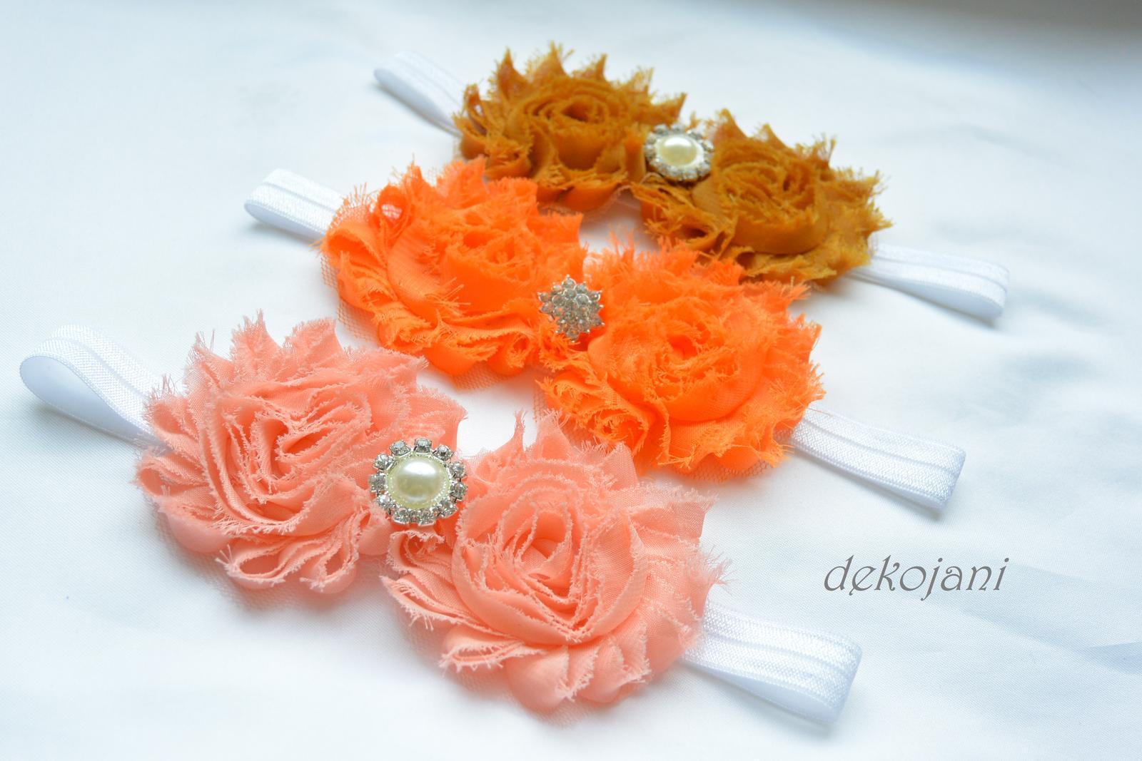 Čelenky, květiny do vlasů, náramky, obojek pro pejska... - Obrázek č. 17