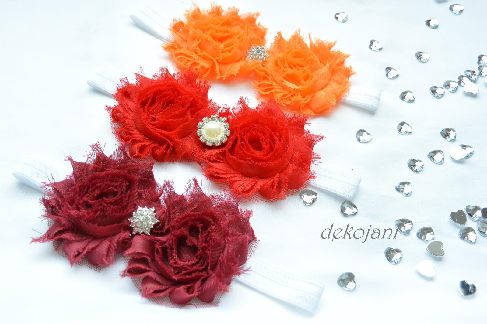 Čelenky, květiny do vlasů, náramky, obojek pro pejska... - Obrázek č. 21
