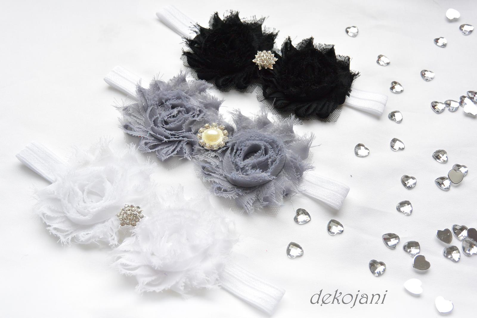 Čelenky, květiny do vlasů, náramky, obojek pro pejska... - Obrázek č. 32