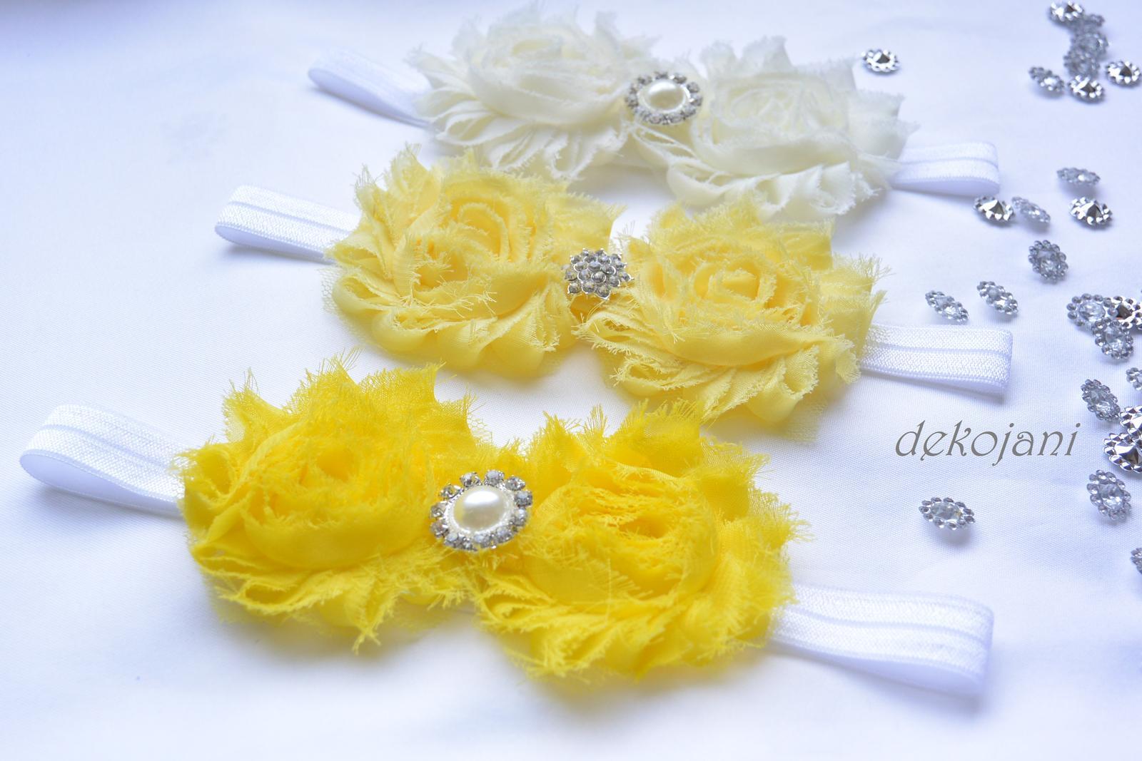 Čelenky, květiny do vlasů, náramky, obojek pro pejska... - Obrázek č. 19