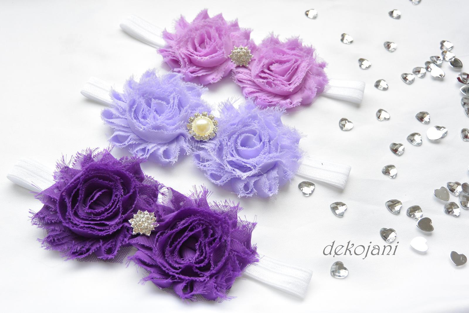 Čelenky, květiny do vlasů, náramky, obojek pro pejska... - Obrázek č. 9