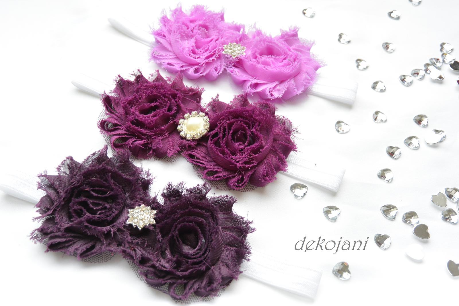 Čelenky, květiny do vlasů, náramky, obojek pro pejska... - Obrázek č. 10