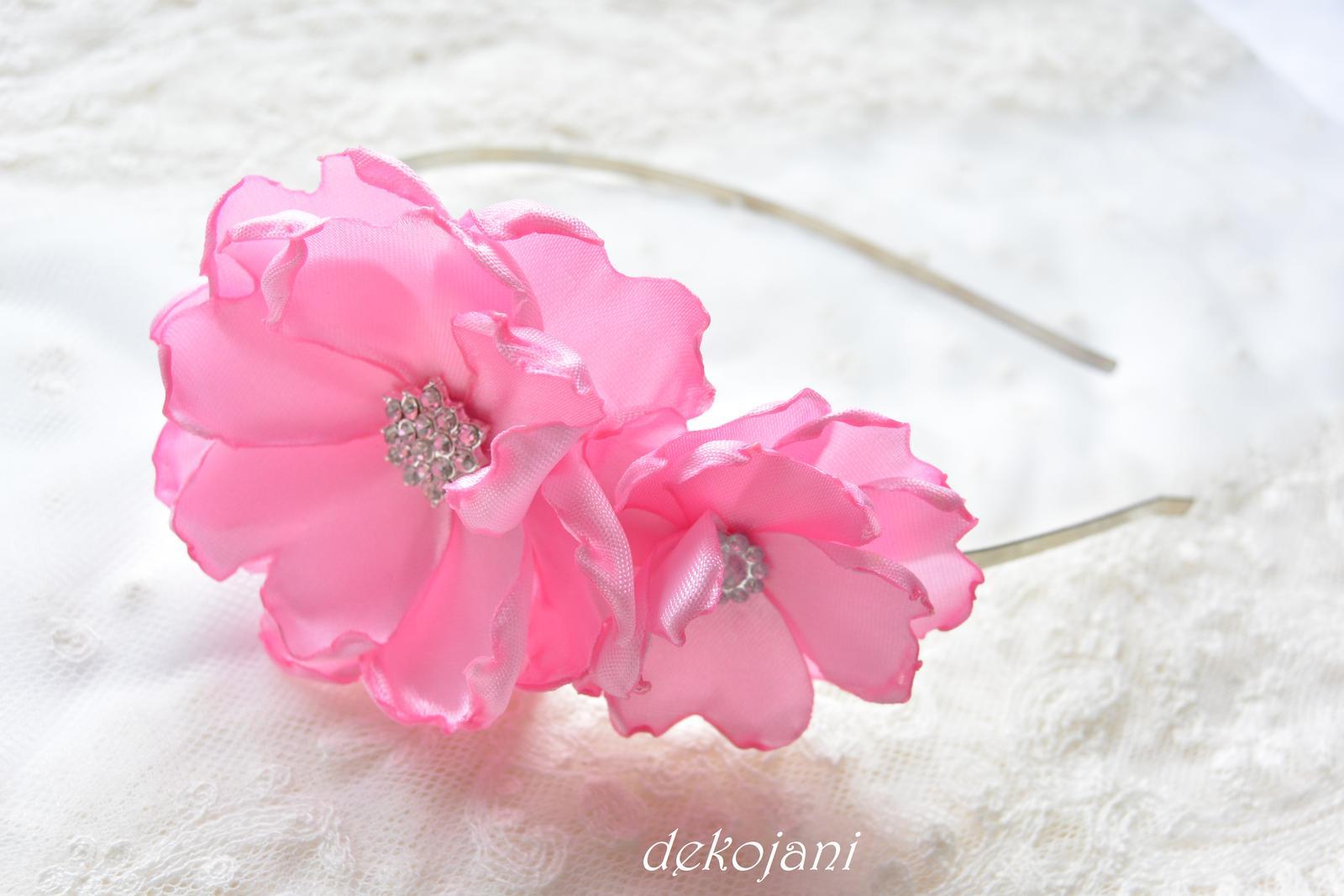 Čelenky, květiny do vlasů, náramky, obojek pro pejska... - Obrázek č. 4