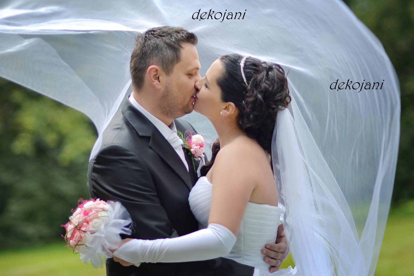 Jmenovky, svatební skleničky, mašle, závoje.. - Obrázek č. 14