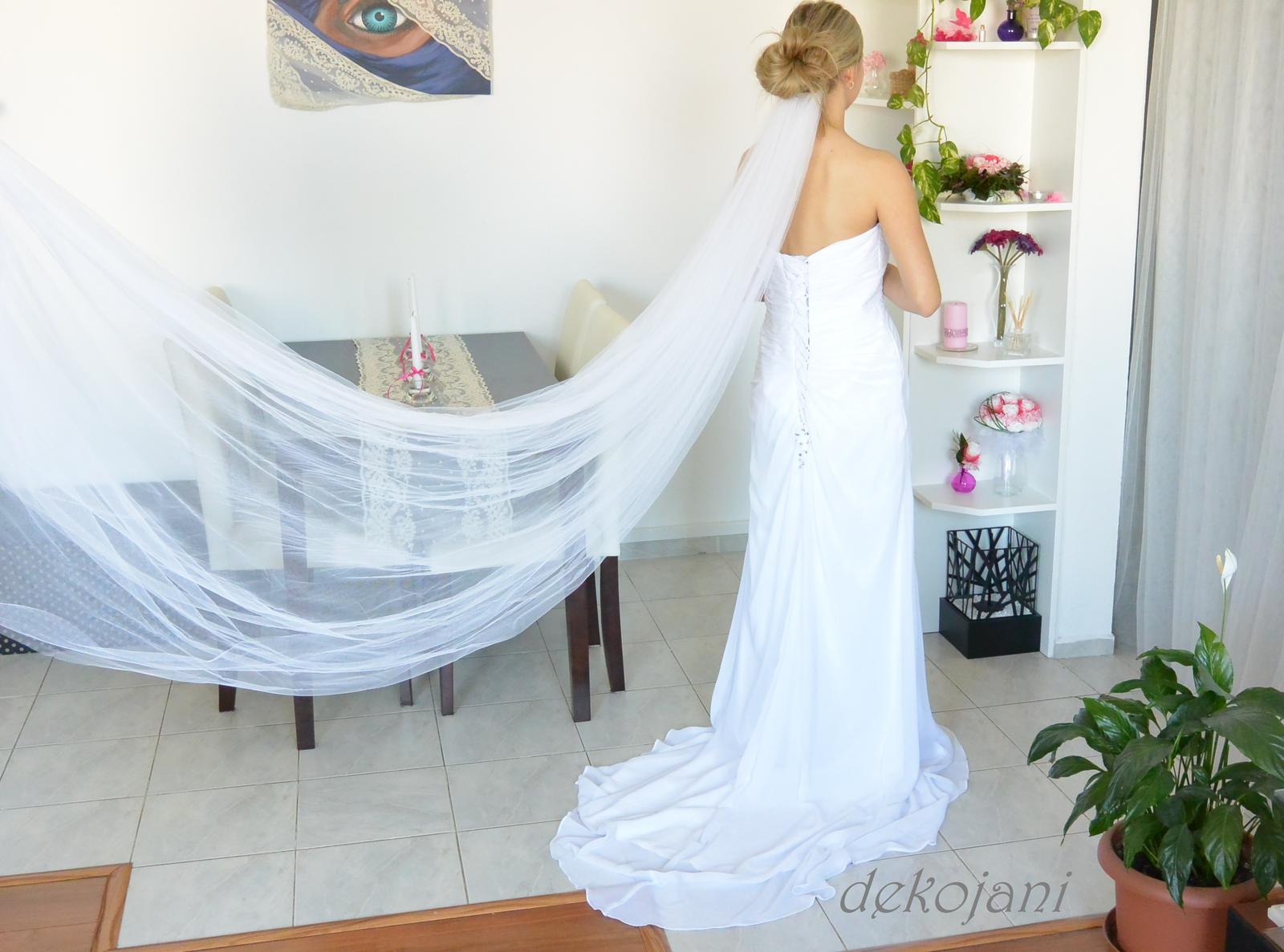 Svatební závoj (dvouvrstvý, třímetrový) v akci za 539kč. - Obrázek č. 4