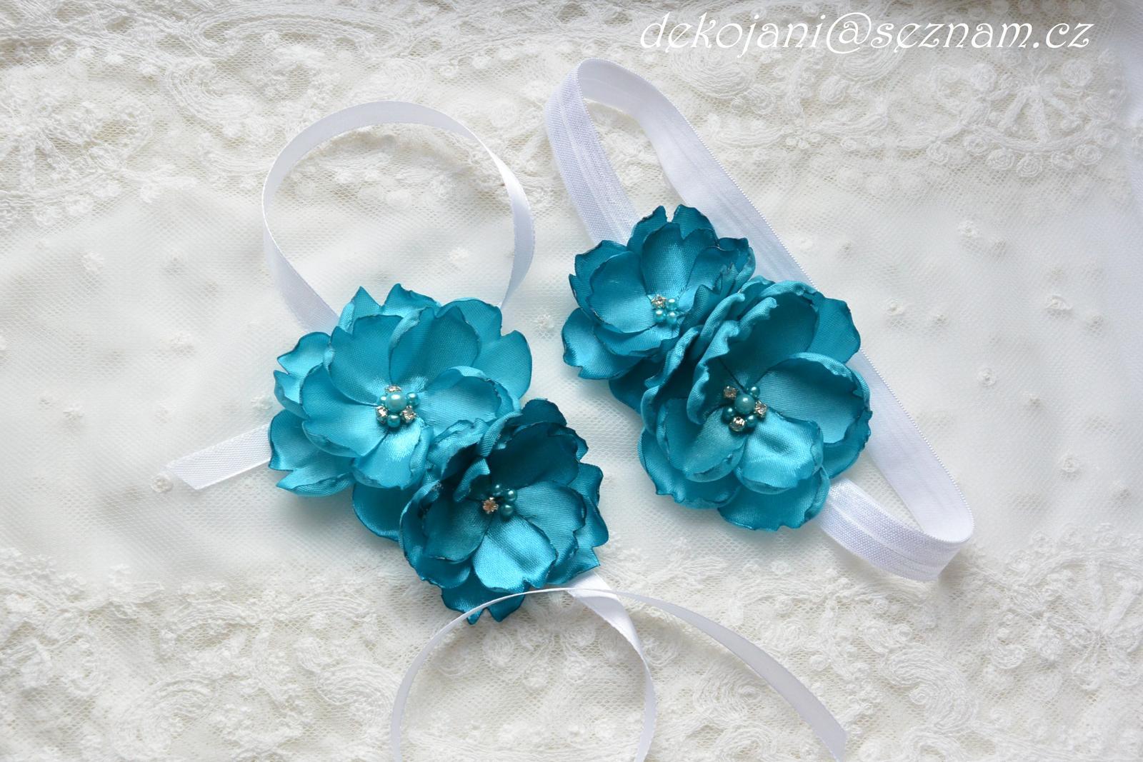 Čelenky, květiny do vlasů, náramky, obojek pro pejska... - Obrázek č. 5