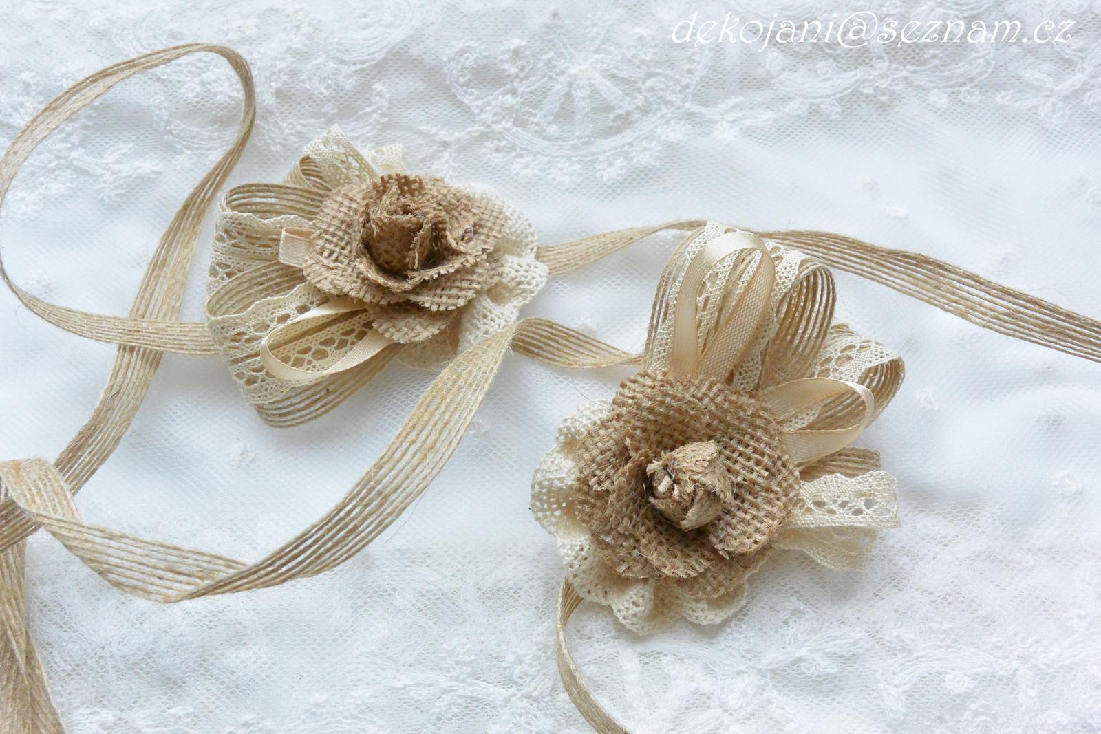 Čelenky, květiny do vlasů, náramky, obojek pro pejska... - Obrázek č. 453