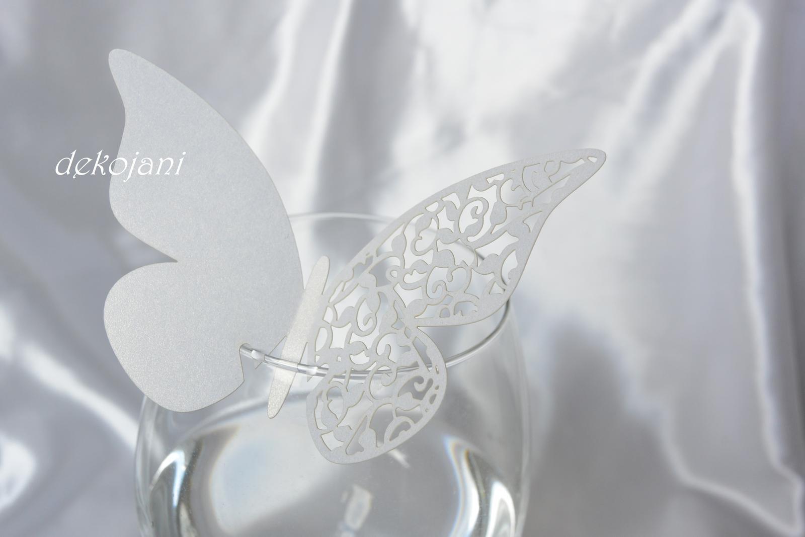 Jmenovka motýlek 10ks - Obrázek č. 1