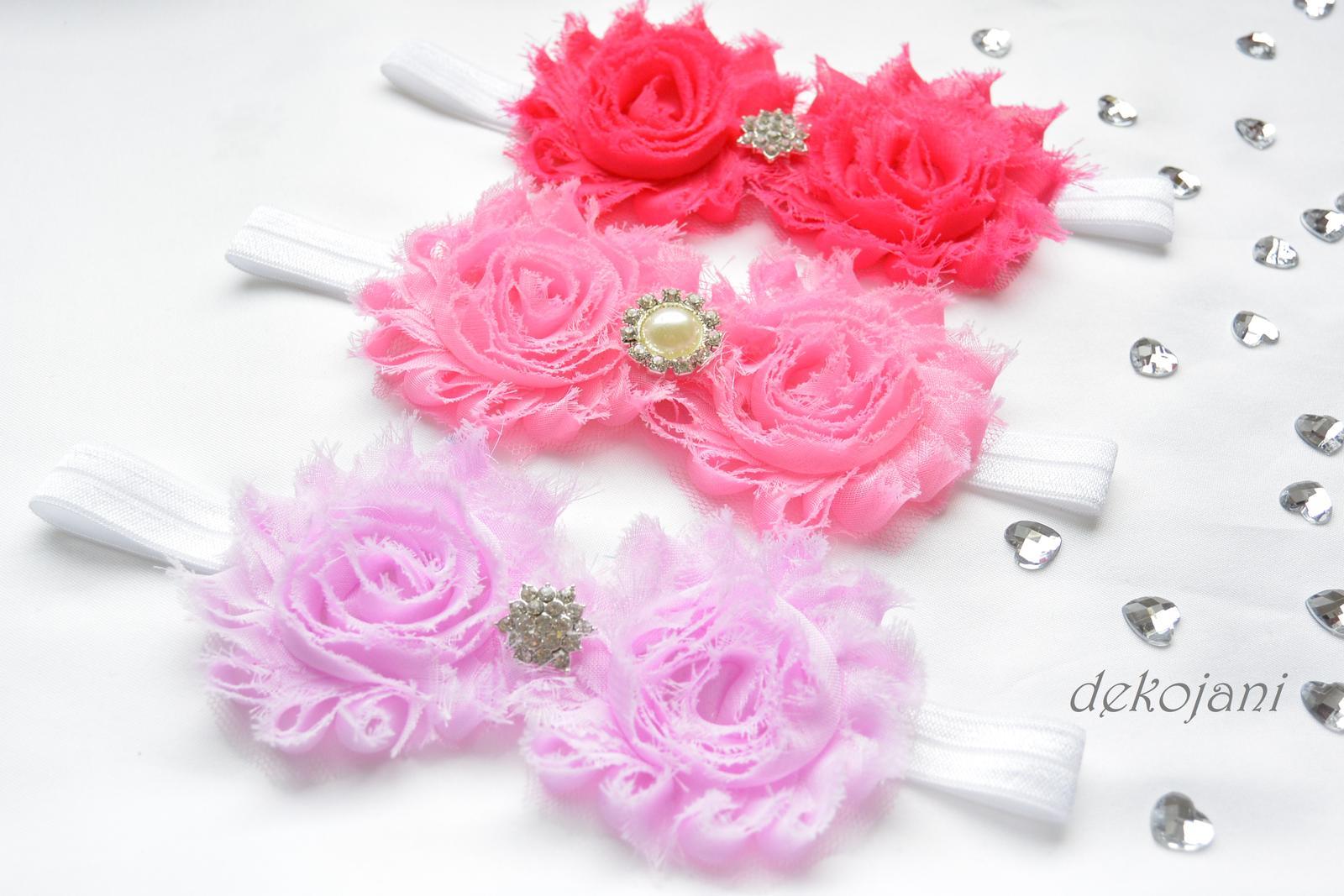 Květinová svatební čelenka pro družičku - Obrázek č. 1