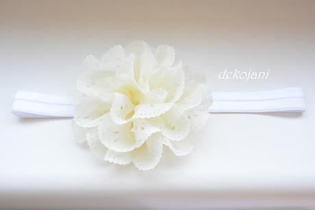 Květinová čelenka šampaň - Obrázek č. 1