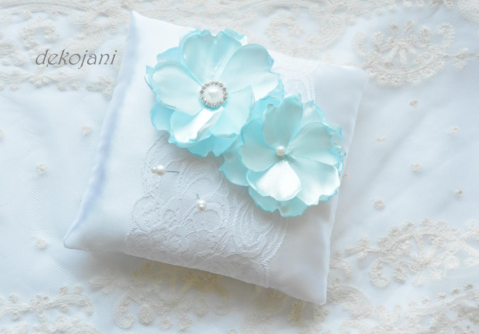 Svatební polštářek mint - Obrázek č. 1