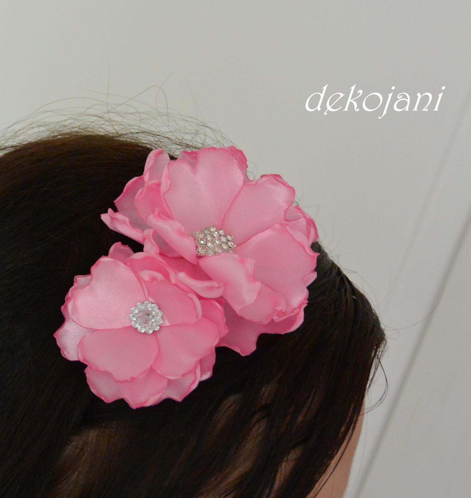 Květinová čelenka- barva na přání - Obrázek č. 2