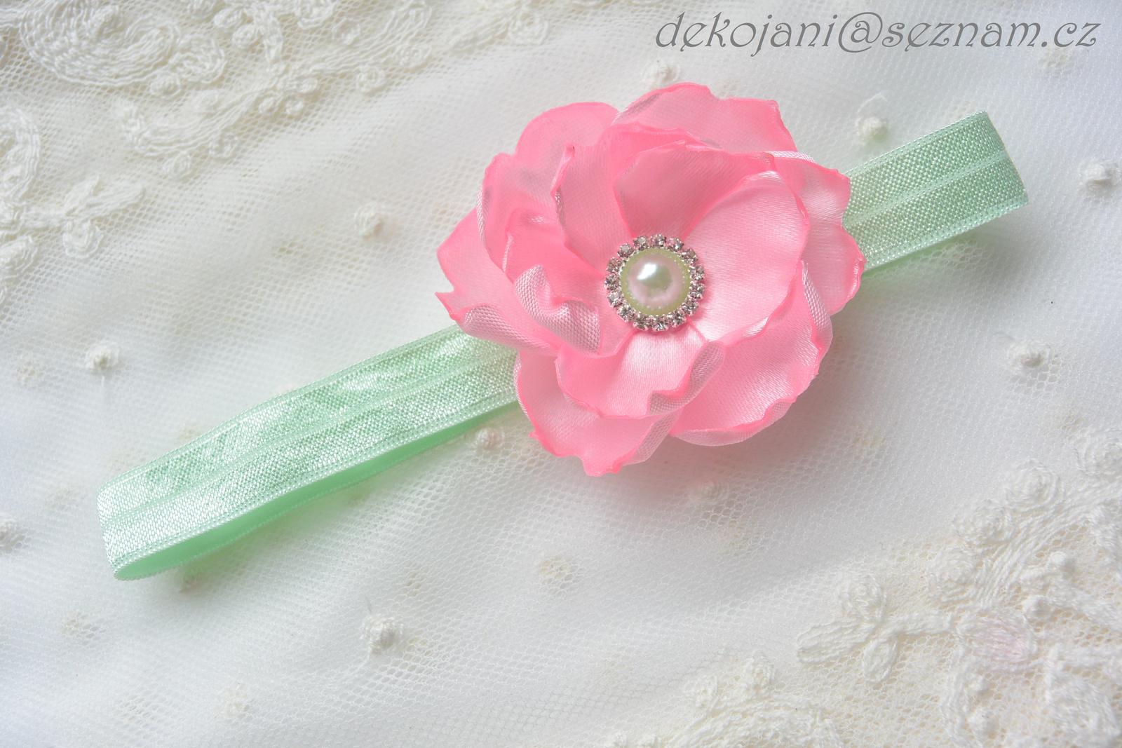 Květinová čelenka- barva na přání - Obrázek č. 1