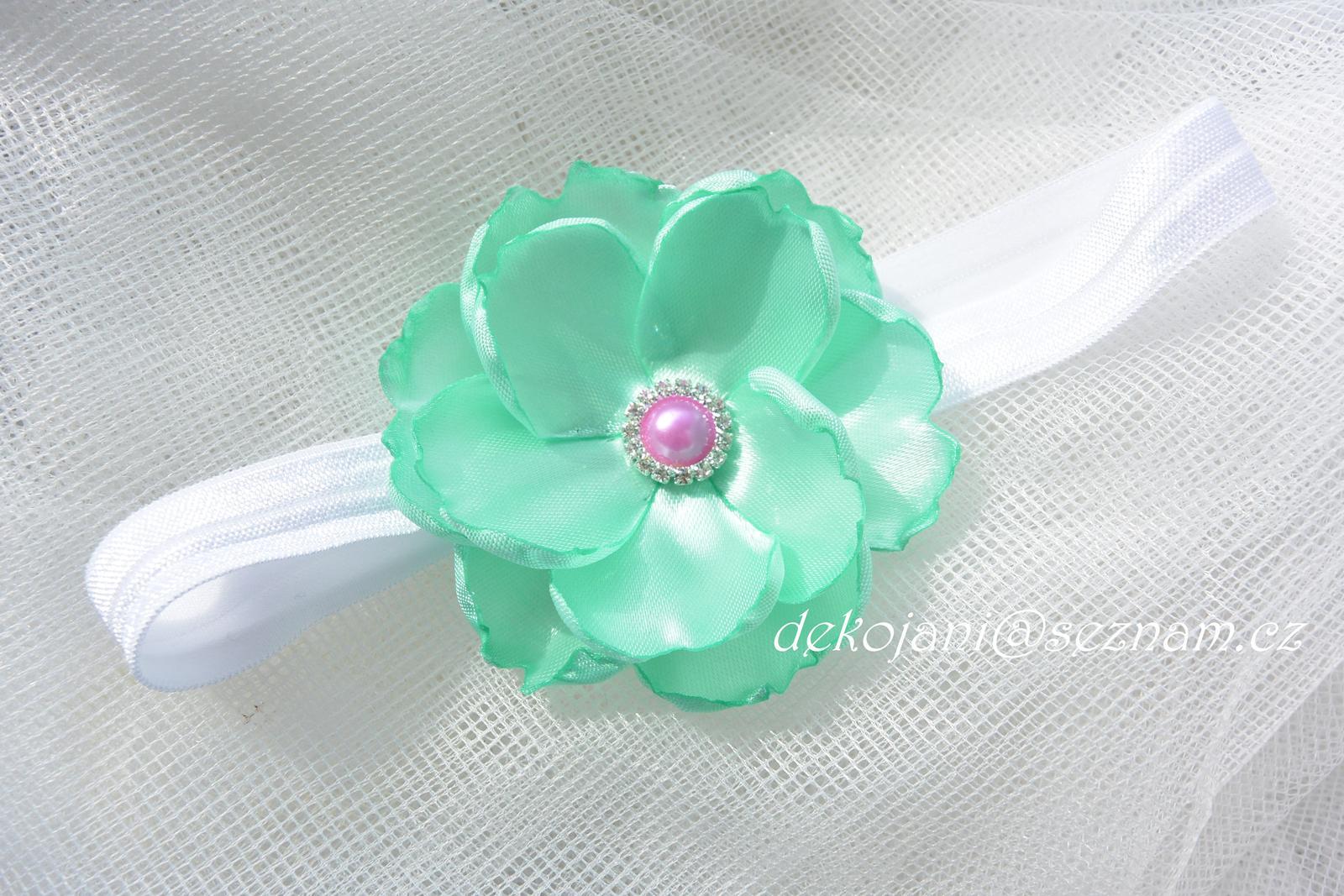 Květinová svatební čelenka - Obrázek č. 1