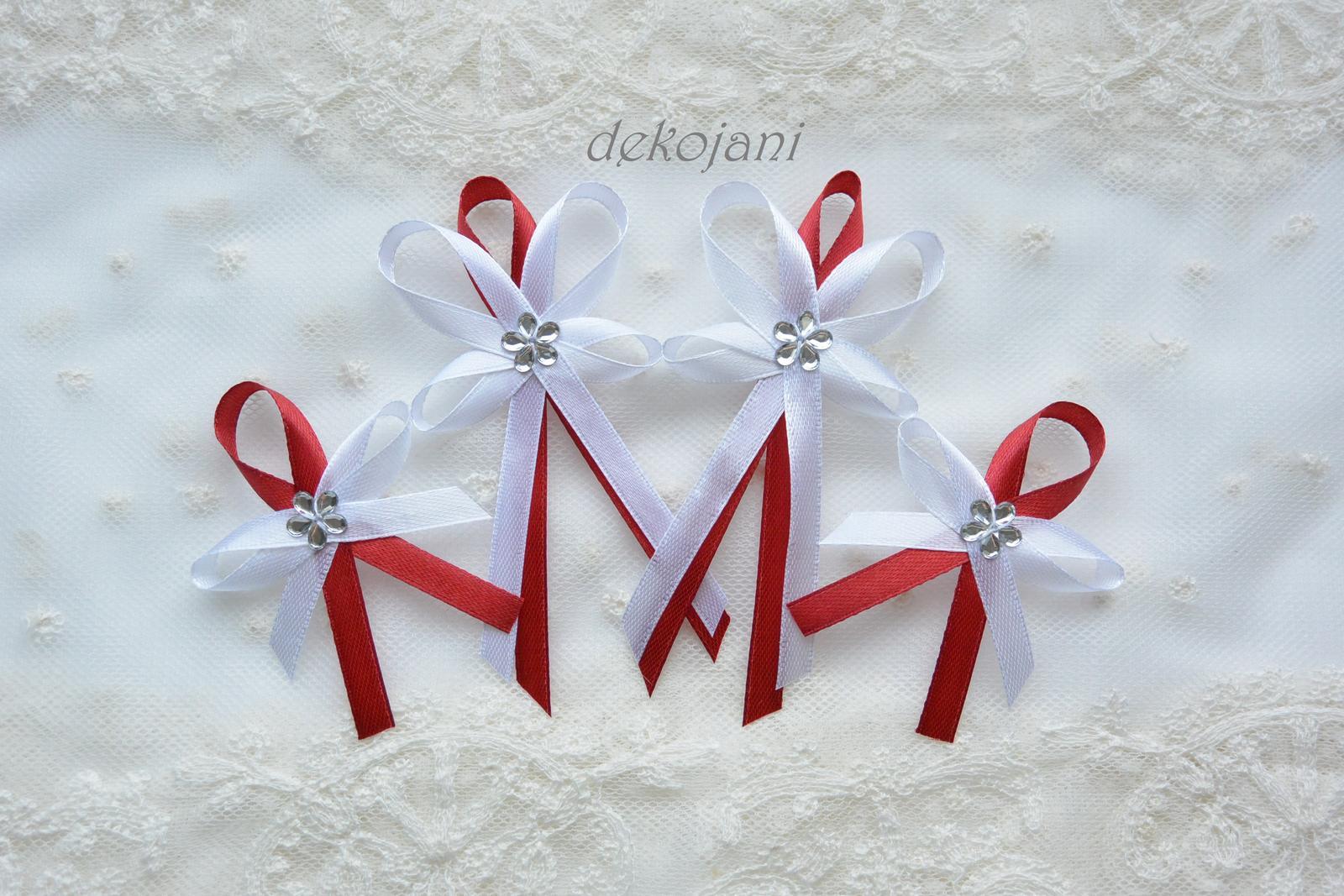 Červené svatební mašličky - Obrázek č. 1