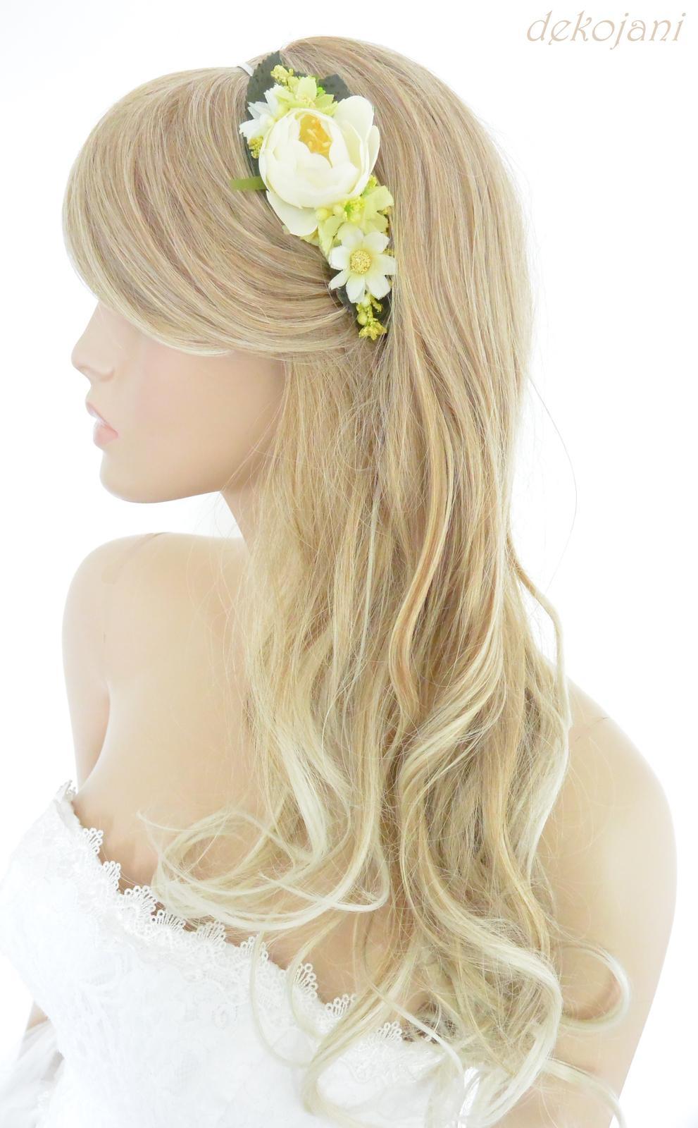 Svatební květinová čelenka - Obrázek č. 1