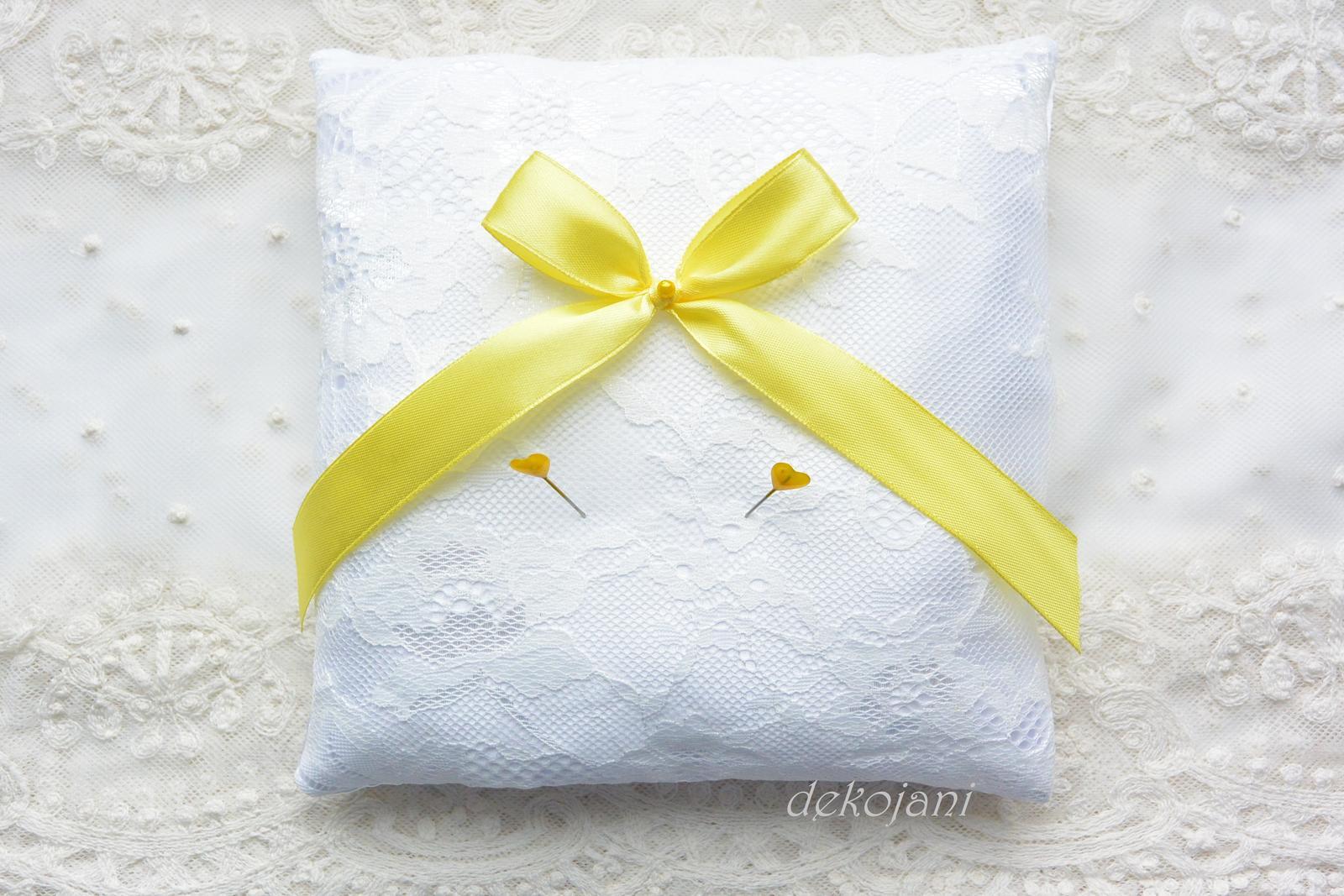 Svatební krajkový polštářek - Obrázek č. 3