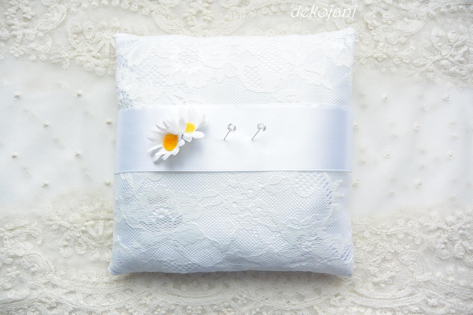 Svatební krajkový polštářek - Obrázek č. 2