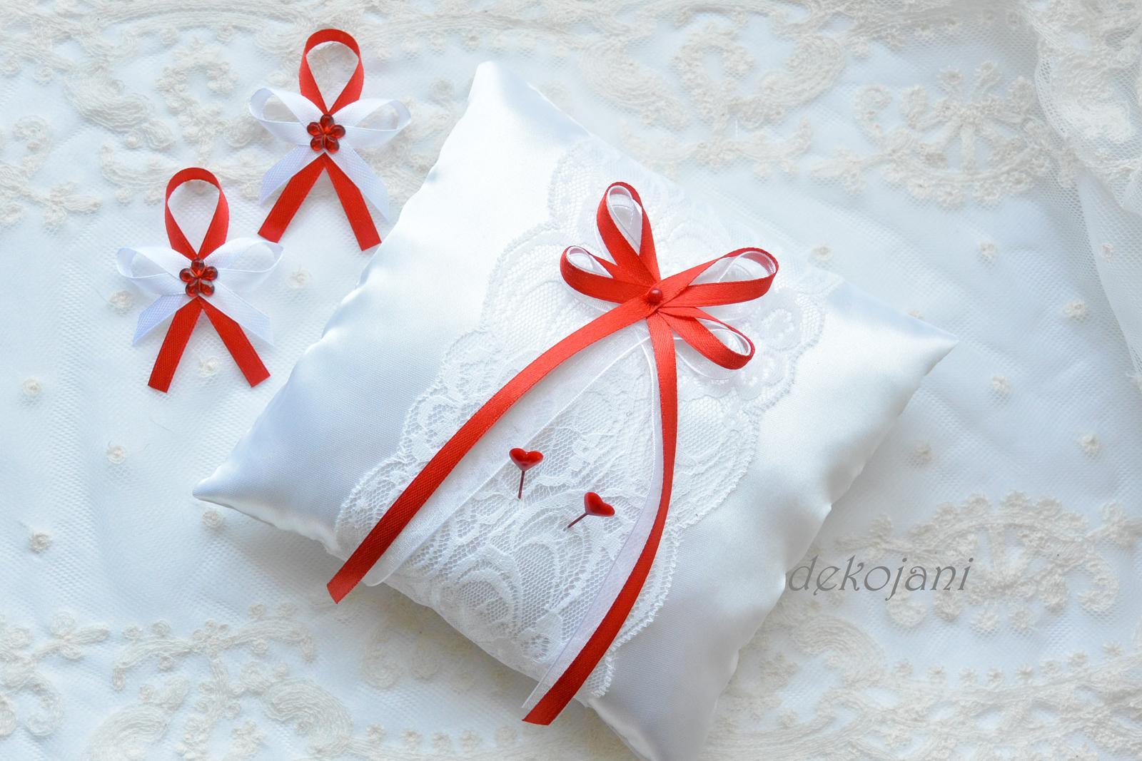 Svatební krajkový polštářek - Obrázek č. 4