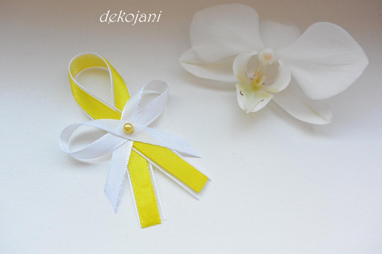 Žlutý svatební polštářek - Obrázek č. 4
