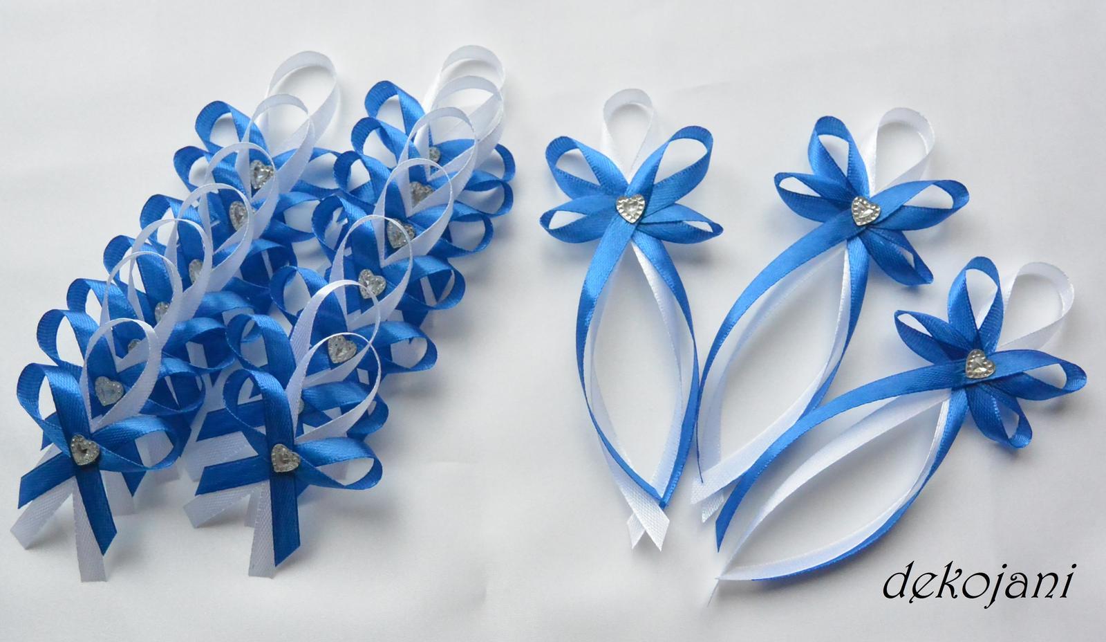 Modrý polštářek pod prstýnky - Obrázek č. 3