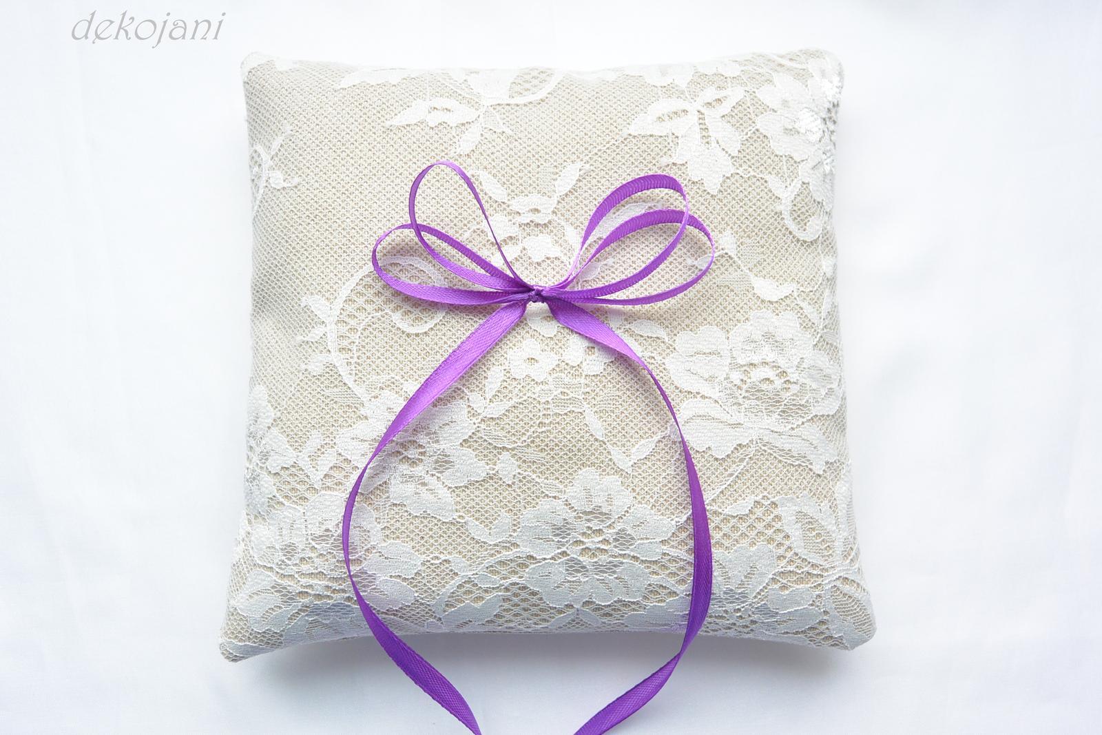 Přírodní svatební polštářek - Obrázek č. 1