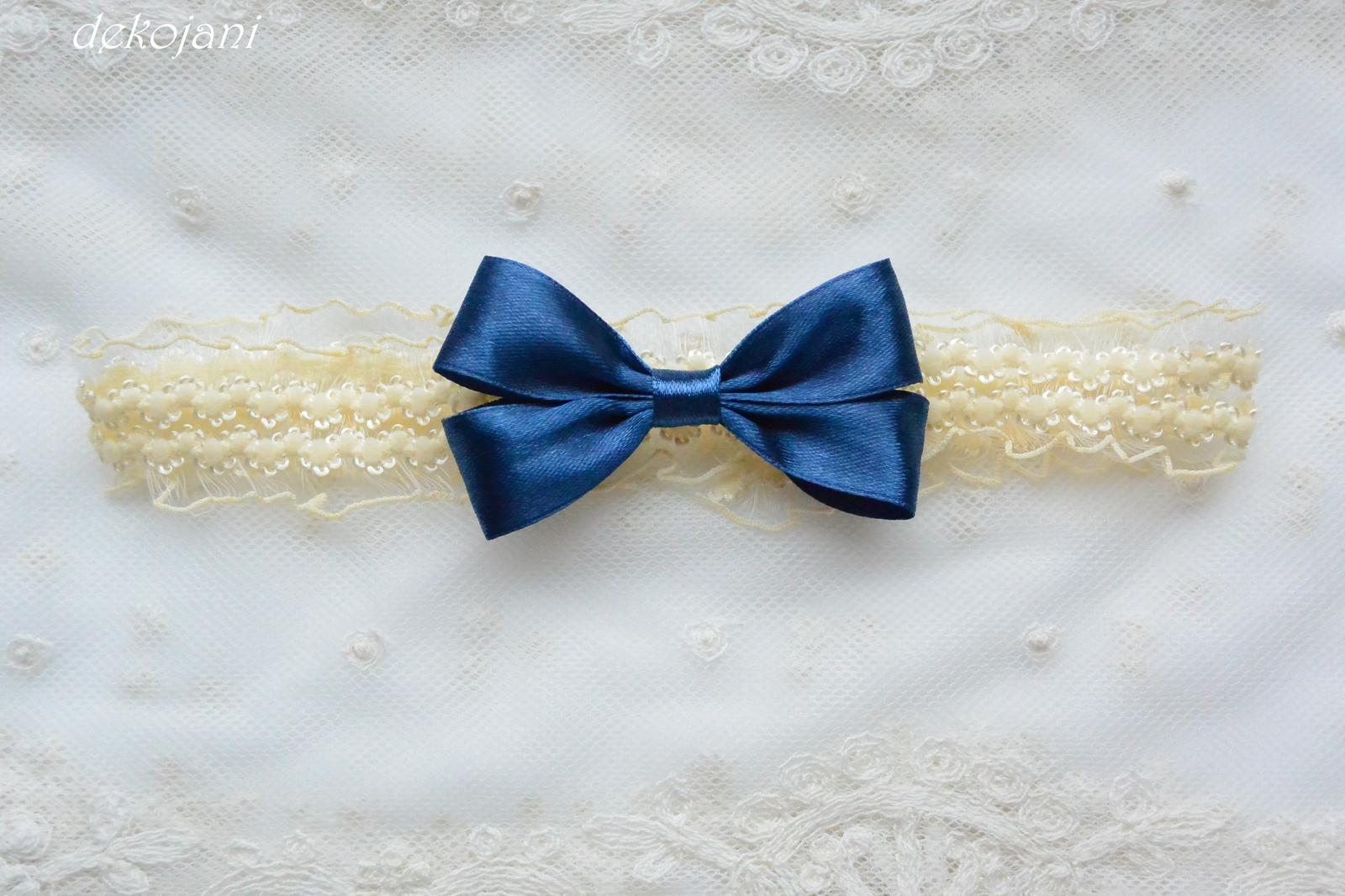 Krajkový svatební podvazek na míru - Obrázek č. 2
