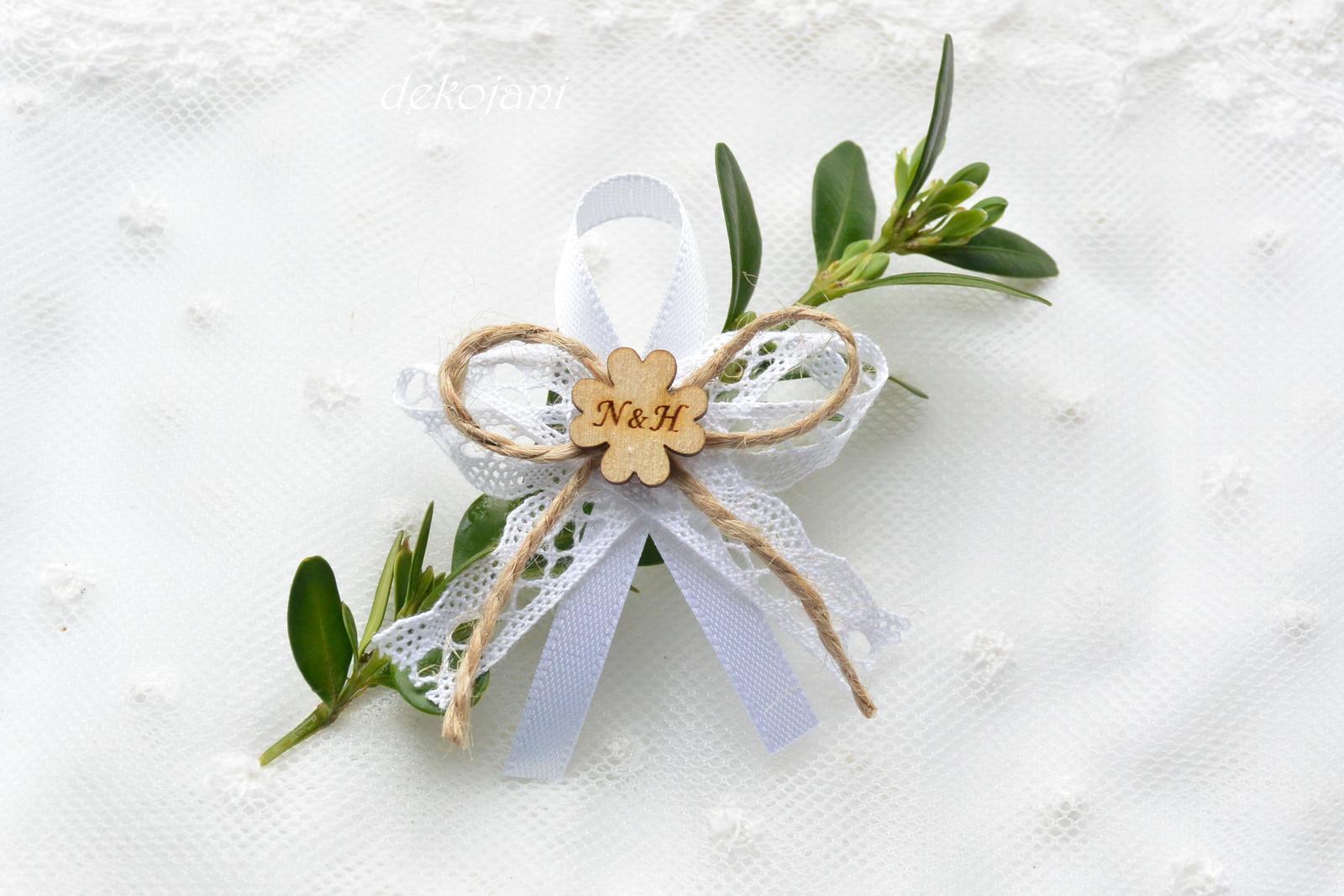 Přírodní mašličky na svatbu - Obrázek č. 1