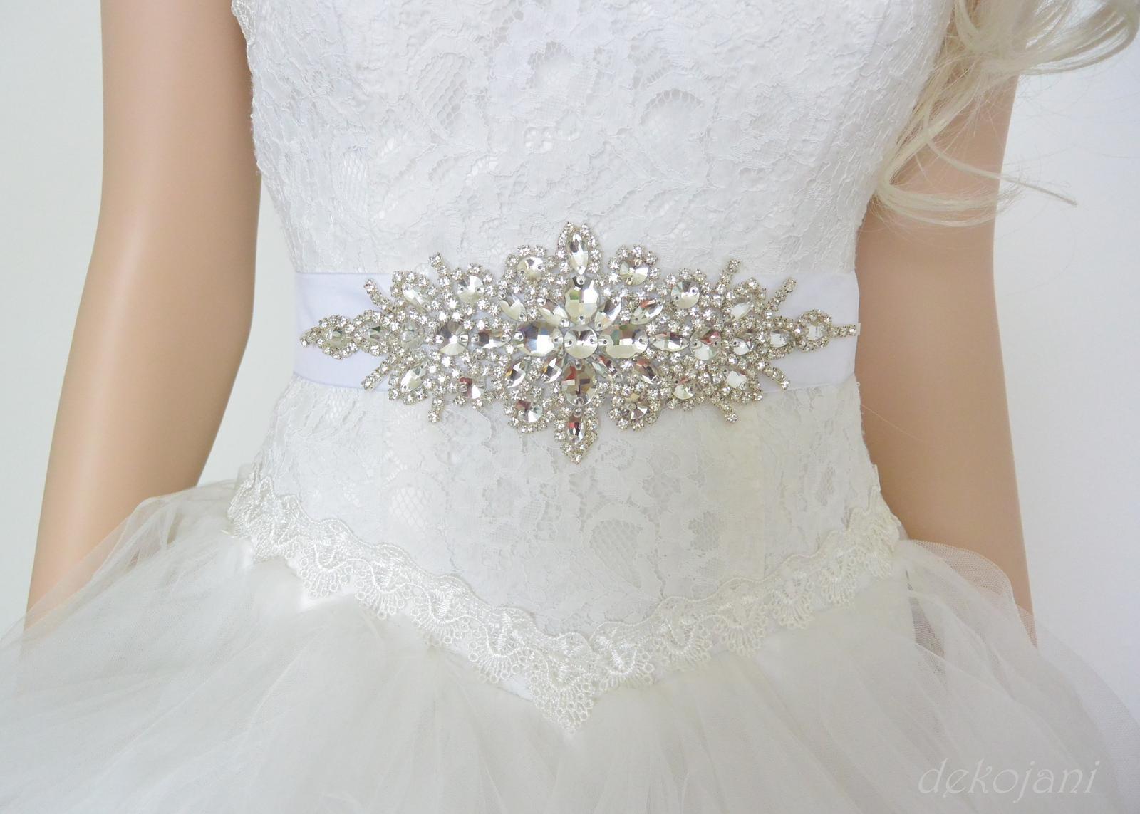 Svatební pásek na šaty - Obrázek č. 1