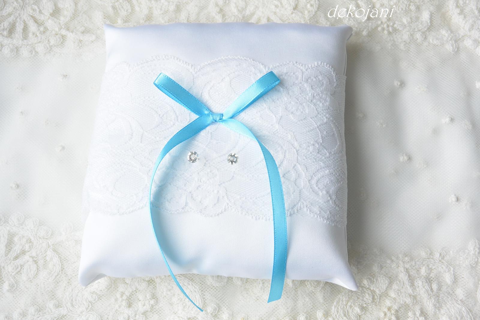 Krajkový svatební polštářek - Obrázek č. 1
