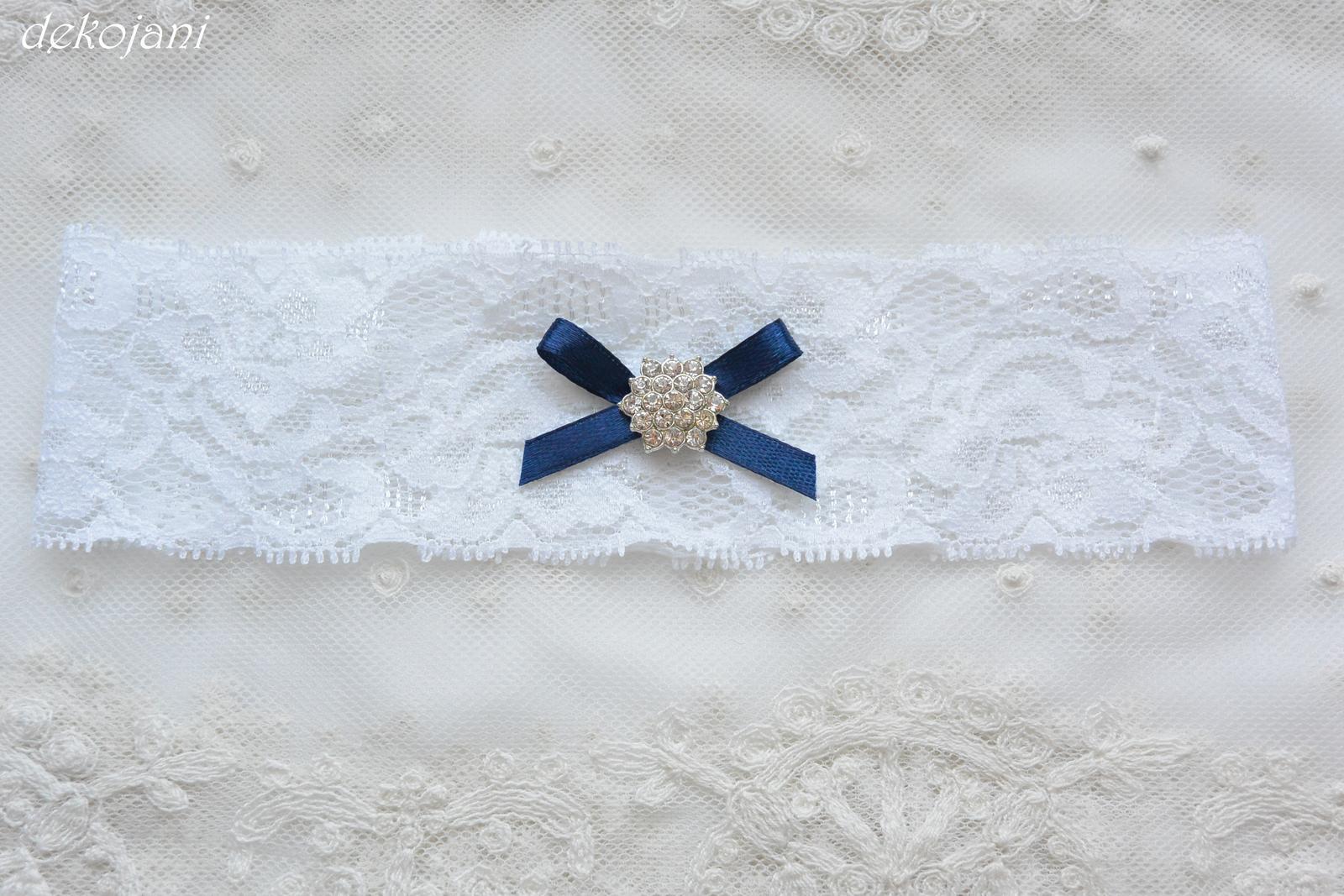 Námořnicky modrý podvazek - Obrázek č. 2