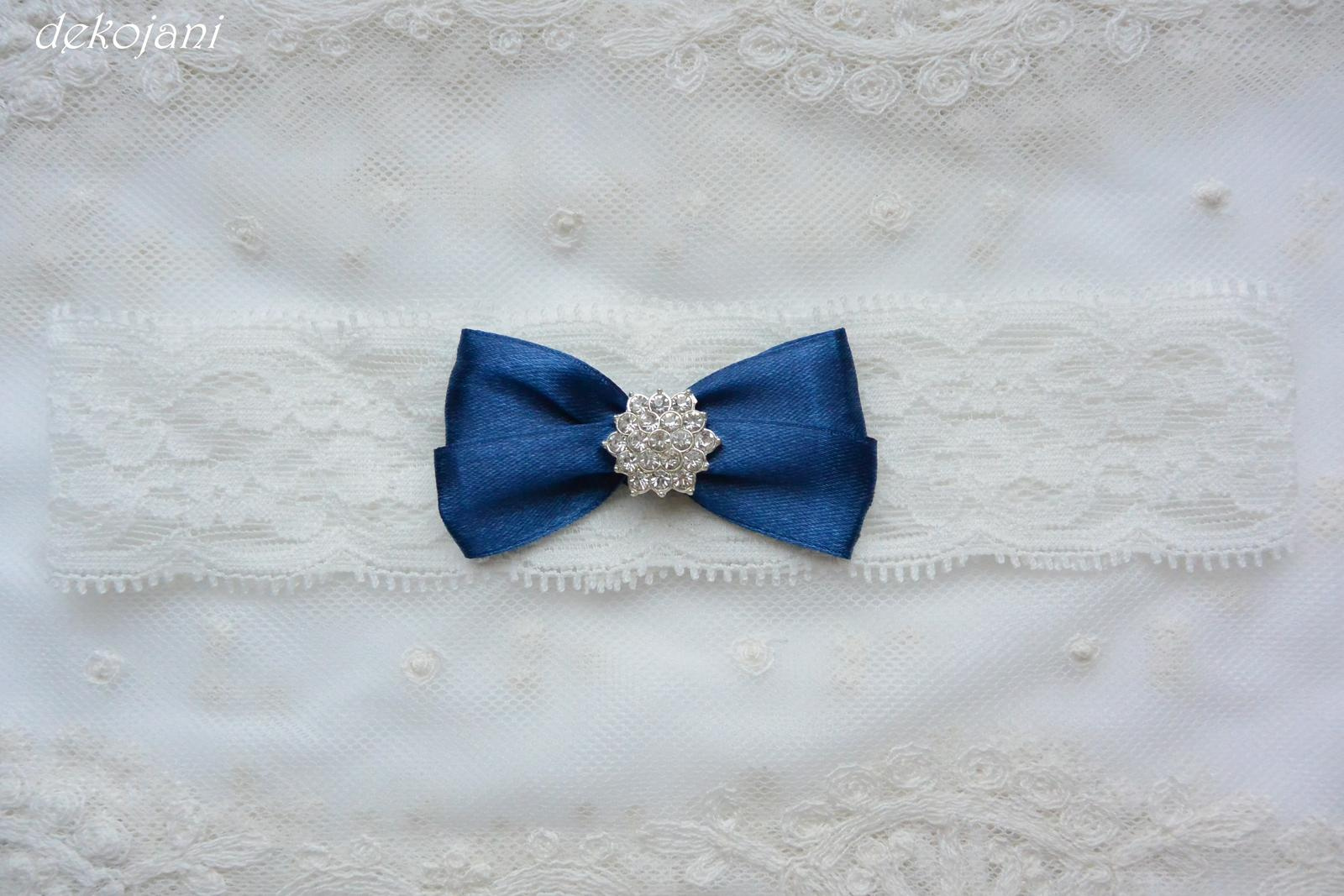 Podvazek námořnicky modrý - Obrázek č. 4