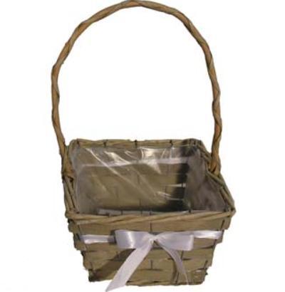 Košíček pro družičku barva mašle na přání - Obrázek č. 1
