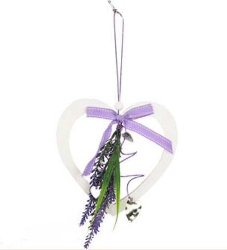 Dekorativní srdce s levandulí - Obrázek č. 1