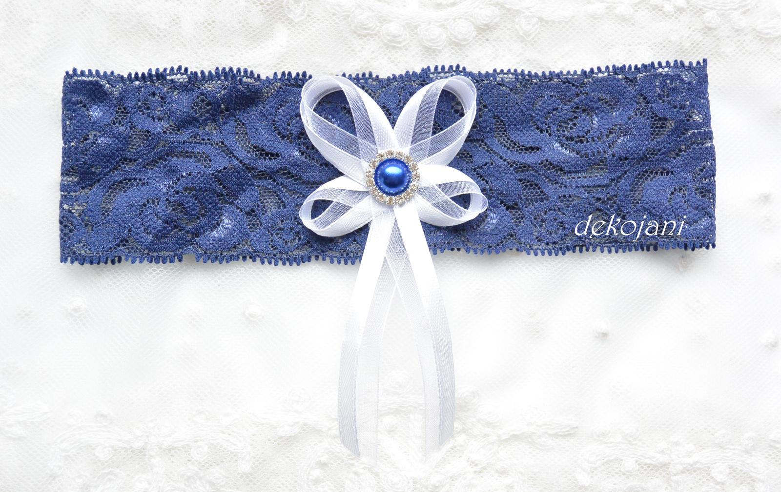 Modrý svatební podvazek - Obrázek č. 1