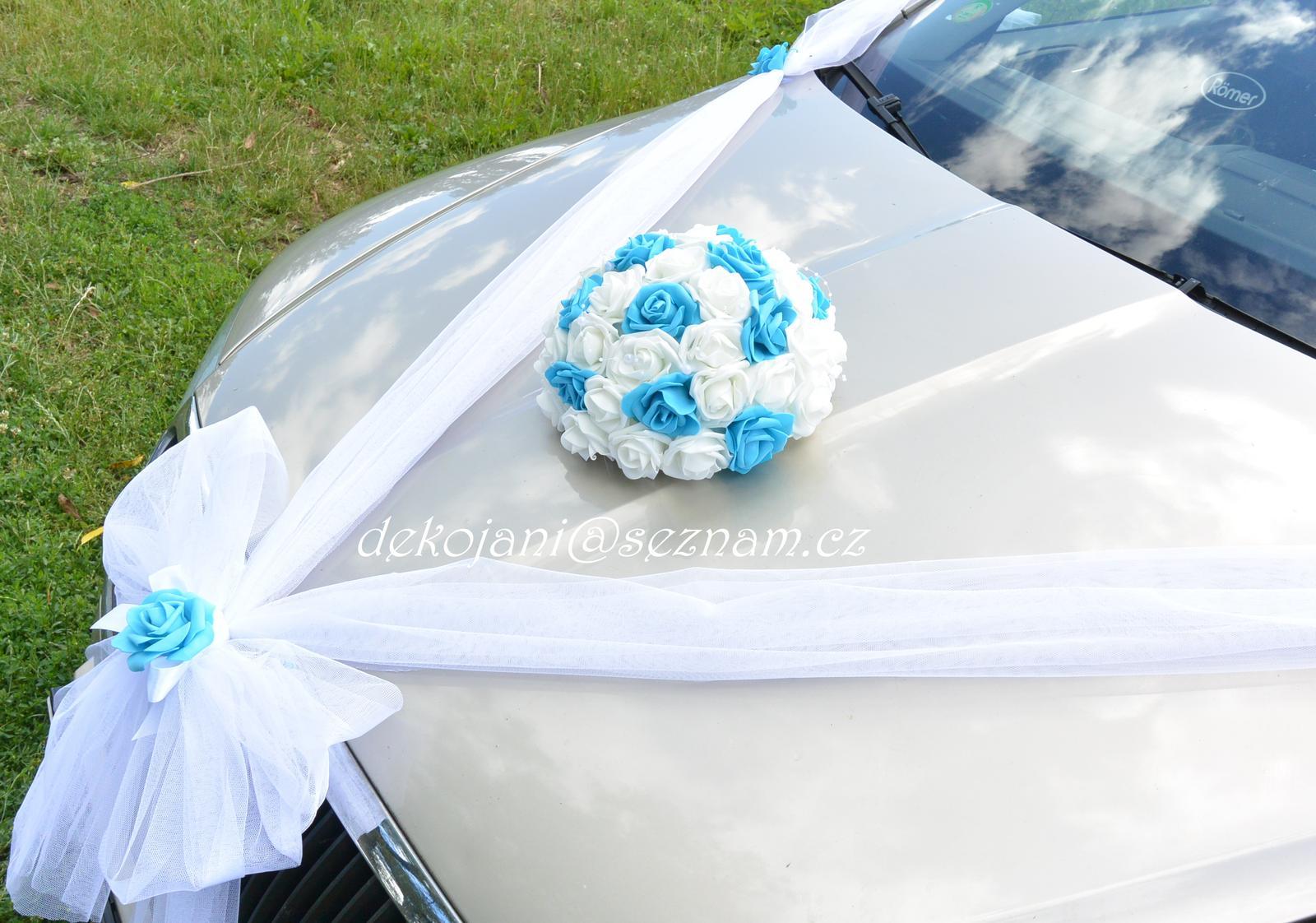 Komplet dekorace na auto nevěsty - Obrázek č. 1