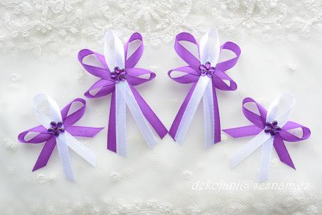 Fialové svatební vývazky - Obrázek č. 1